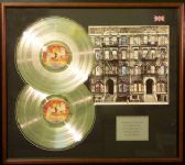 LED ZEPPELIN- Double platinum disc & cover presentation